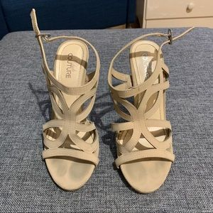 Nude Strappy High Heel Sandals Size 6